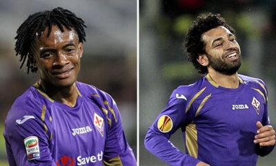 Mohamed Salah e Juan Cuadrado, giocatori nel mirino dell'Inter