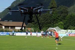 Il drone di Sarri, usato per visionare la difesa dall'alto