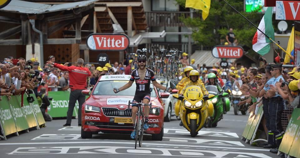 Simon Geschke, vincitore della tappa 17. Froome mantiene la gialla