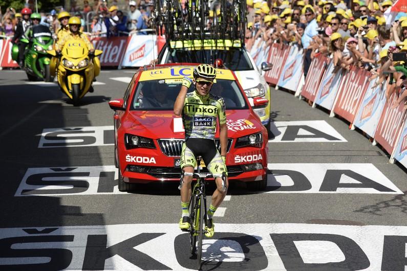 Rafal Majka, vincitore dell'undicesima tappa del Tour 2015