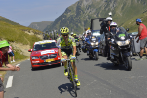 Rafal Majka impegnato sulle storiche rampe del Col du Tourmalet