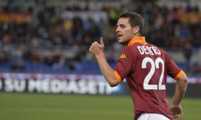 Mattia Destro, attaccante della Roma, protagonista di questo calciomercato.