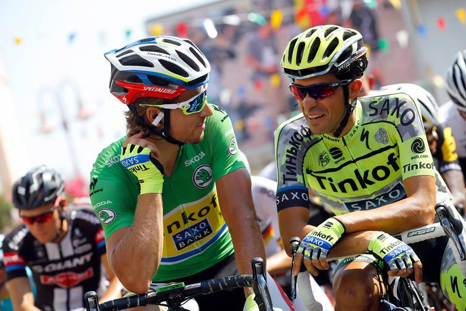 Peter Sagan e Alberto Contador