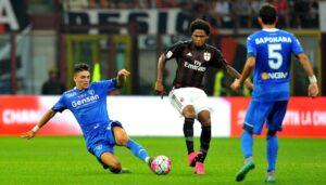 Il Milan batte a fatica l'Empoli grazie alle reti di Bacca e Luiz Adriano