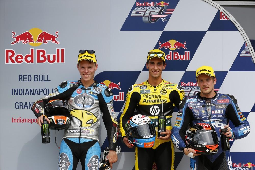 Prima fila Moto2 al #IndyGP