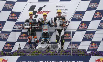 podio Moto3 #IndyGP
