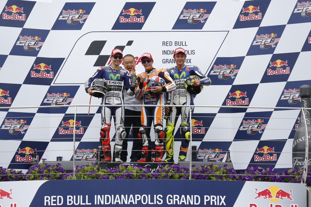 podio MotoGP #IndyGP