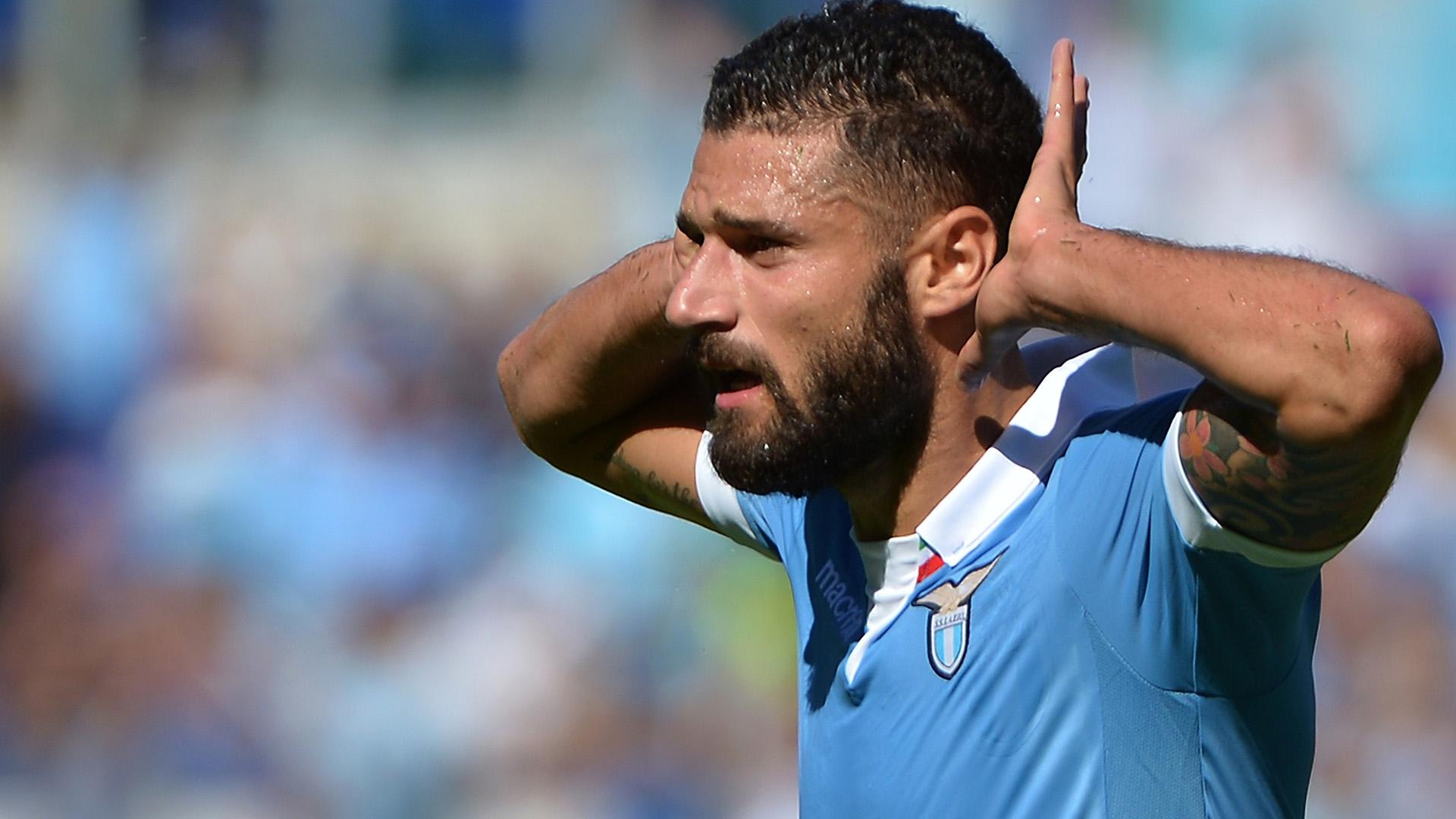 Antonio Candreva sarà probabilmente out nella sfida contro il Napoli