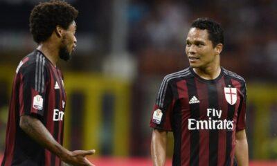 Milan-Genoa: nella foto Luiz Adriano e Bacca Milan