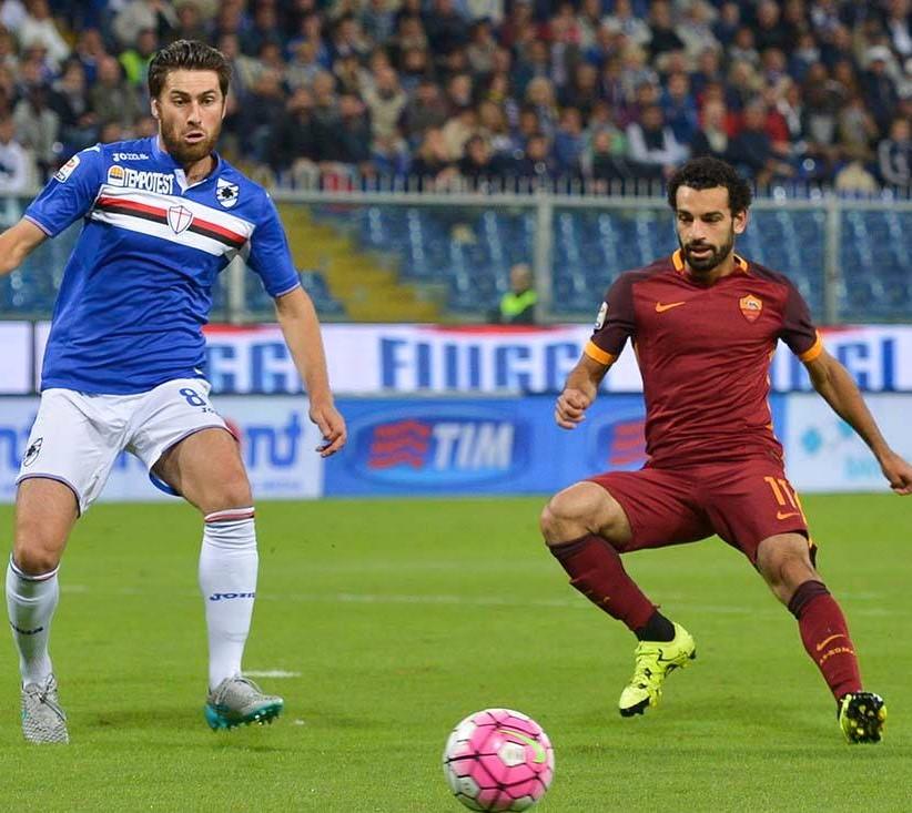 Salah, autore del momentaneo pareggio della Roma