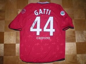 La maglia di Fabio Gatti, centrocampista del Perugia