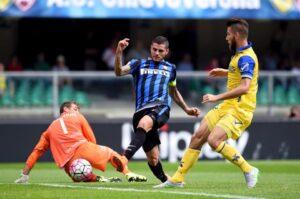 Il tocco vincente di Mauro Icardi nel match contro il Chievo