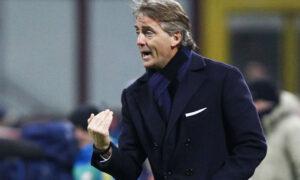 Roberto Mancini, allenatore dell'Inter criticato da Sacchi