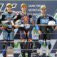 Moto3 podio Aragon: 1°Oliveira, 2° Navarro e 3° Fenati