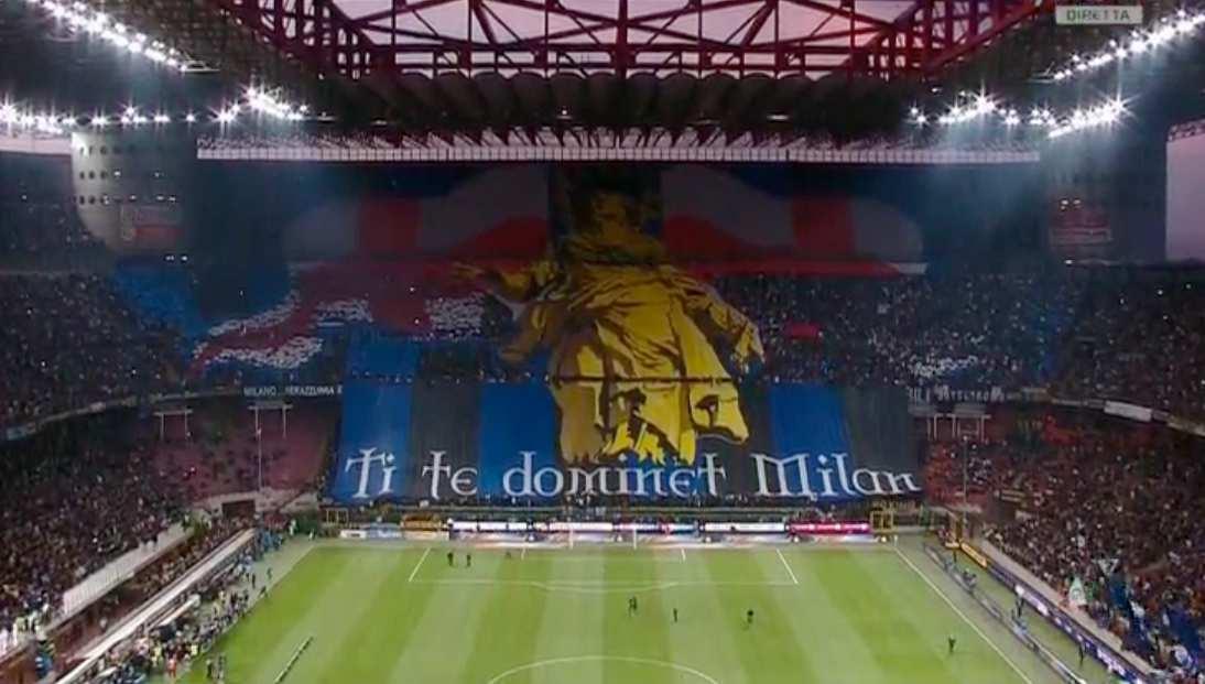 La coreografia dell'Inter in uno dei scorsi derby