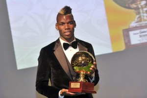 Paul Pogba dopo aver vinto il Golden Boy 2013