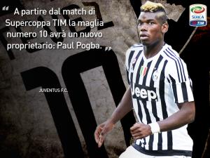 L'annuncio ufficiale della Juve sull'assegnazione della 10 a Pogba