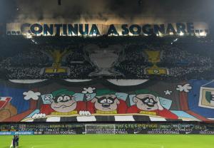 La coreografia di San Siro per l'ottava giornata di Serie A, Inter-Juventus