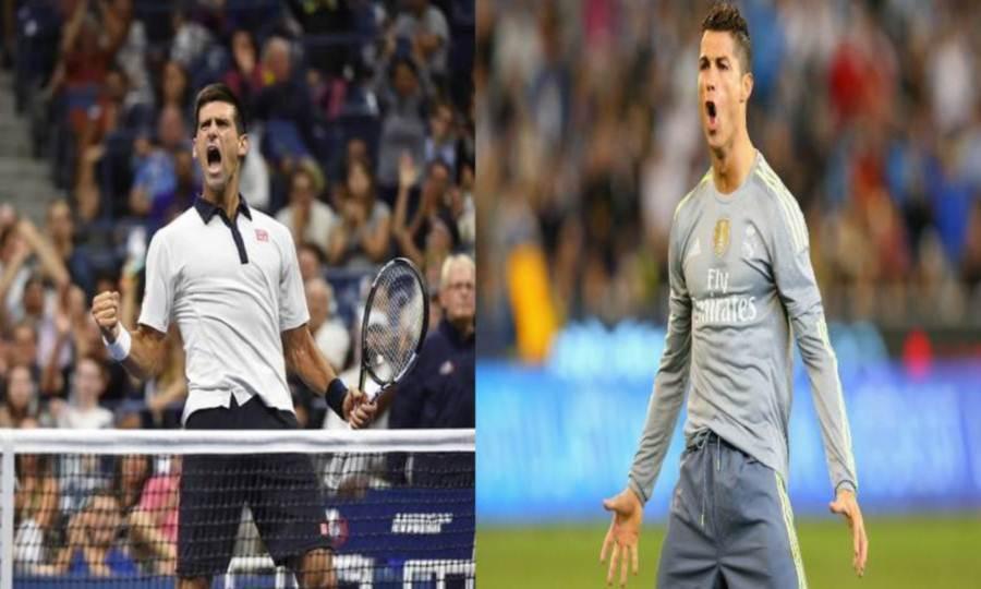 Cristiano Ronaldo e Novak Djokovic, numero uno di calcio e tennis
