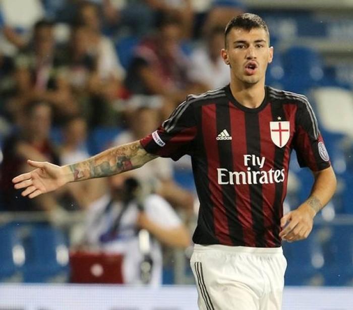 Romagnoli con la maglia del Milan