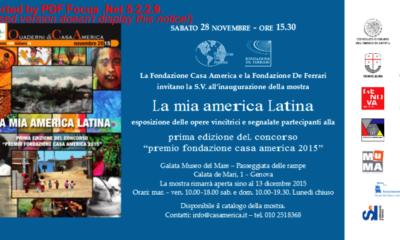Casa America, l'invito all'inaugurazione al Museo Galata di Genova