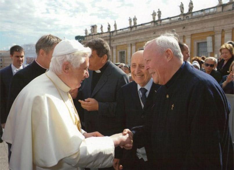Padre Livio con Benedetto XVI