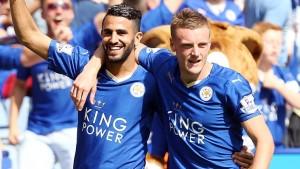 Leicester: mahrez vardy