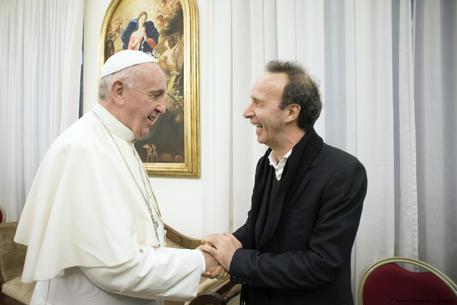 Roberto Benigni e Papa Francesco