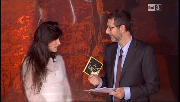 Fabio Fazio con Elisa (e il suo cd...)
