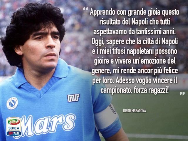 Napoli Campione d'Inverno - Maradona