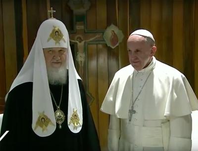 Papa Francesco e il patriarca di Mosca