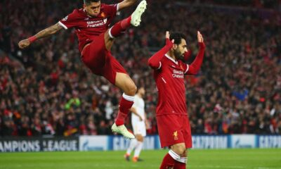 Mohamed Salah, mattatore assoluto del match con due gol e tre assist