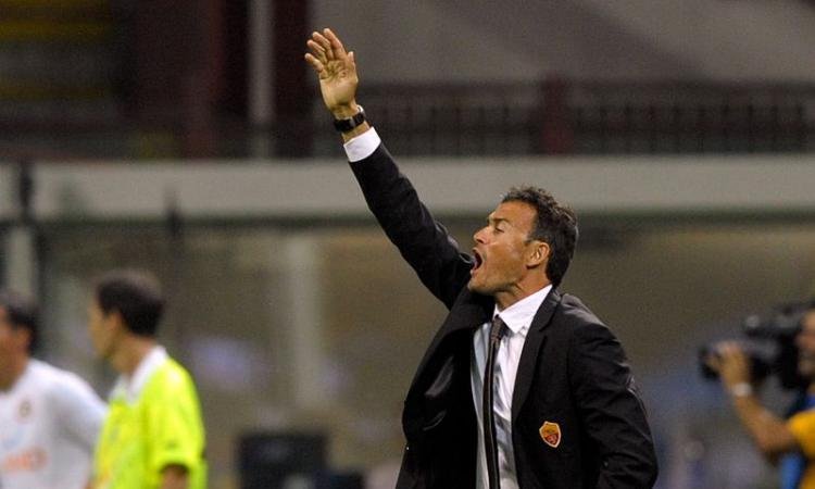 Luis Enrique, allenatore della Roma nella stagione 2011/12