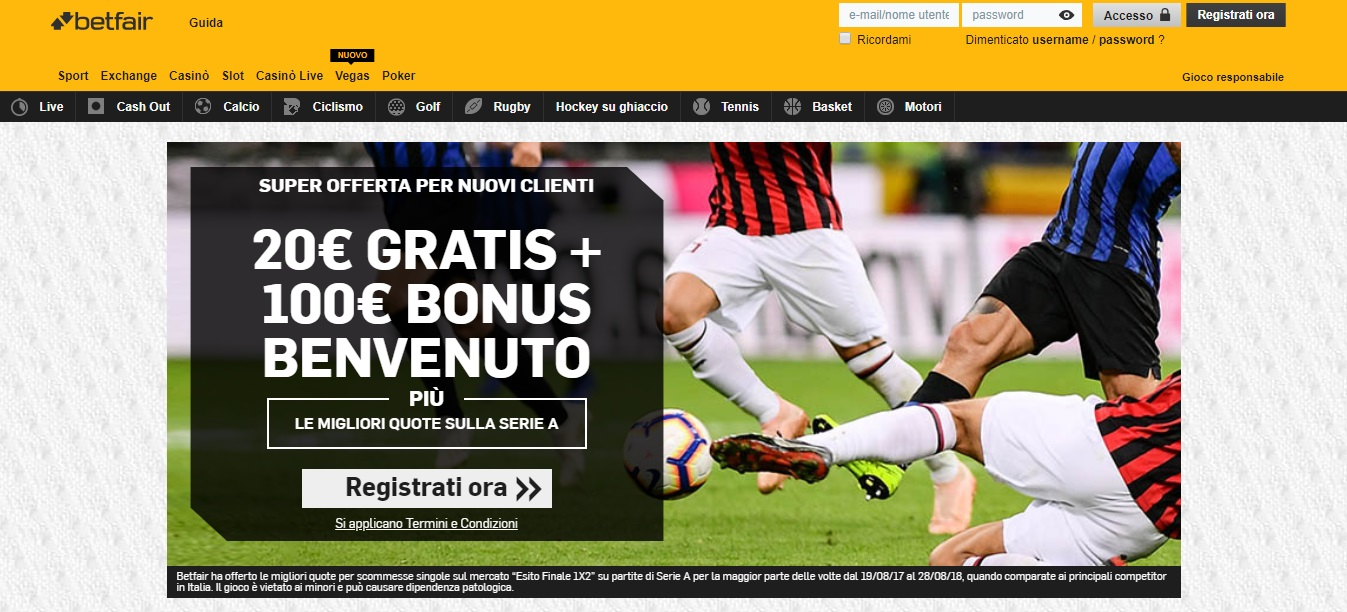 Betfair, la recensione del bookmaker di scommesse sportive online che collabora con Paddy Power
