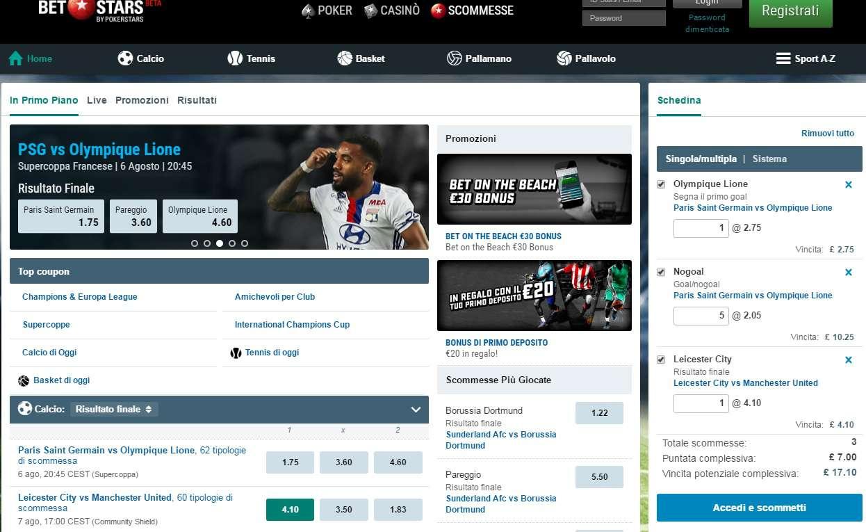 Betstars, la recensione del servizio di scommesse online di PokerStars