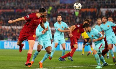 Il gol di Manolas al Barcellona