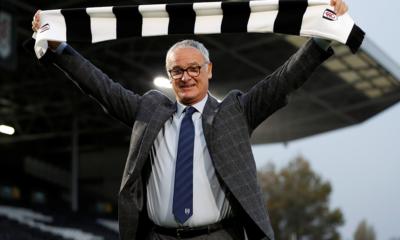 Claudio Ranieri con la sciarpa del Fulham