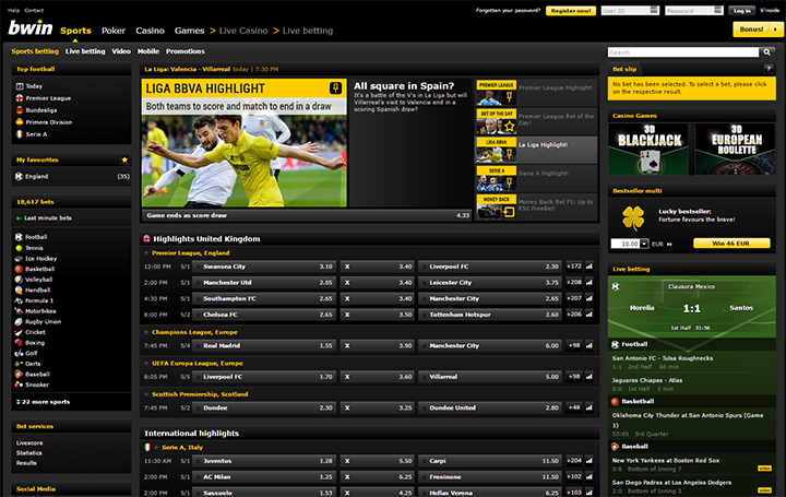 Bwin, recensione del servizio di scommesse online