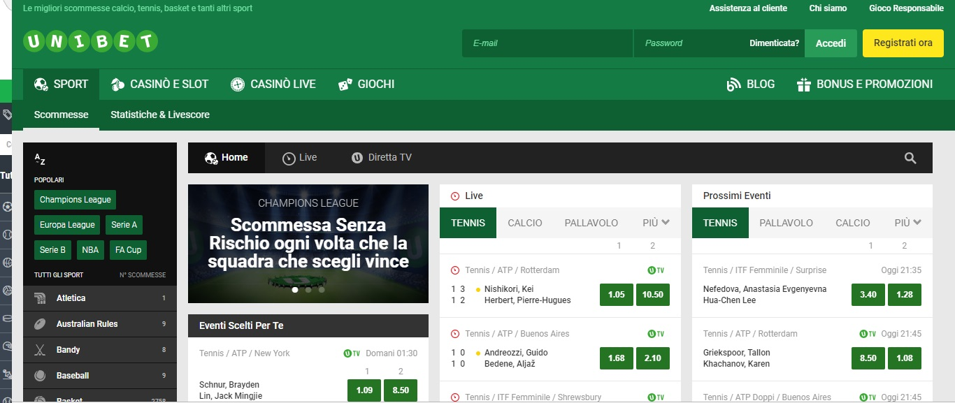 Unibet, recensione del servizio di scommesse online