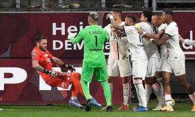 Rissa provocata da Mbappè in PSG-Metz - Photo by Sky Sport