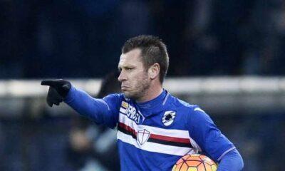 Cassano con la maglia della Sampdoria - Photo by Sampdoria News